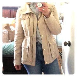 Khaki Michael Kors anorak rain jacket